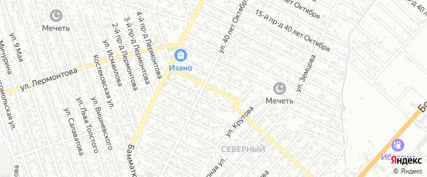 40 лет Октября улица 8-й проезд на карте Хасавюрта с номерами домов