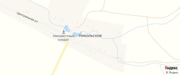 Центральная улица на карте деревни Никольского с номерами домов