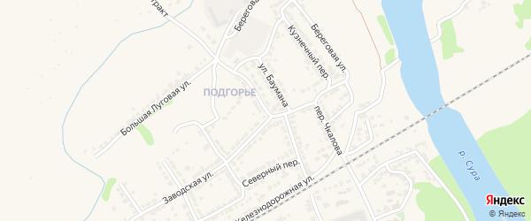 Улица Шаумяна на карте Алатыря с номерами домов