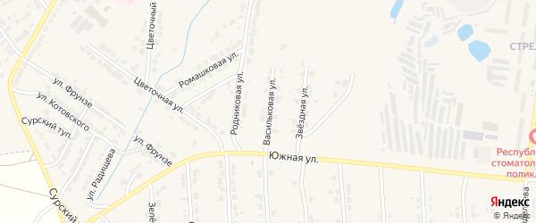 Васильковая улица на карте Алатыря с номерами домов