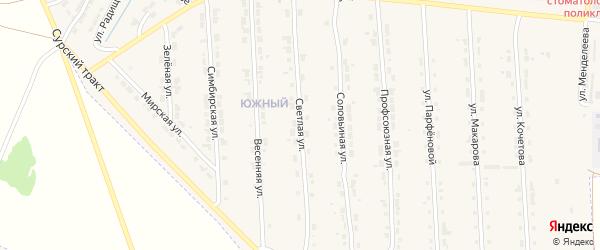 Светлая улица на карте Алатыря с номерами домов