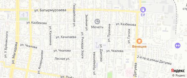 Улица Нурадилова на карте Хасавюрта с номерами домов
