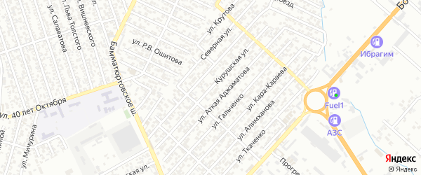 Лермонтова улица 7-й проезд на карте Хасавюрта с номерами домов