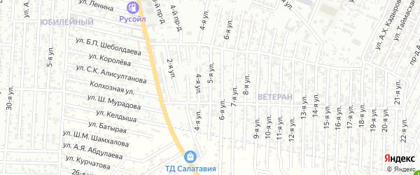 Лазо улица 5-й проезд на карте Хасавюрта с номерами домов