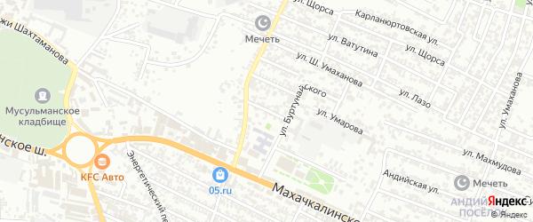 Переулок Нефтяников на карте Хасавюрта с номерами домов