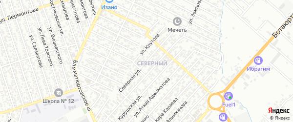 Северная улица на карте Хасавюрта с номерами домов