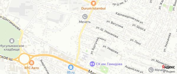 Улица Нефтяников на карте Хасавюрта с номерами домов