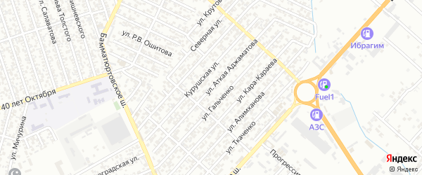 6-я улица на карте Олимпийского микрорайона с номерами домов