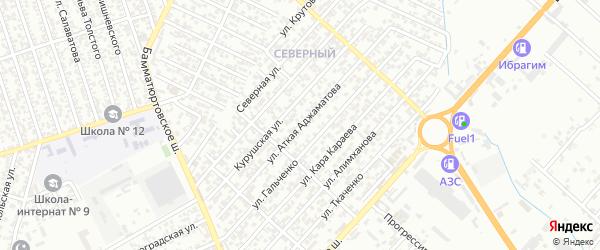 6-я улица на карте поселка Свободы с номерами домов