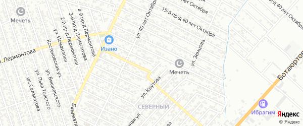 40 лет Октября улица 9-й проезд на карте Хасавюрта с номерами домов