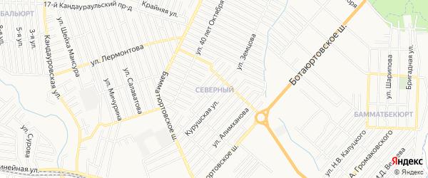 Карта Северного поселка города Хасавюрта в Дагестане с улицами и номерами домов