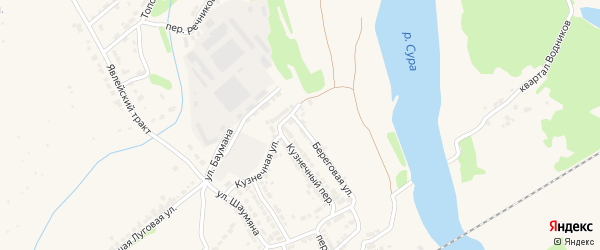 Береговая улица на карте Алатыря с номерами домов