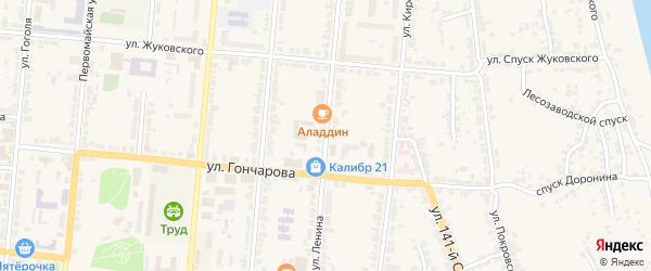 Улица Ленина на карте Алатыря с номерами домов