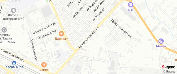 Боташюртовское шоссе на карте Северного поселка с номерами домов