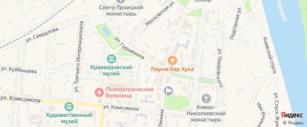 Улица Горшенина на карте Алатыря с номерами домов