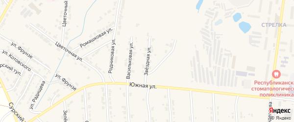 Звездная улица на карте Алатыря с номерами домов