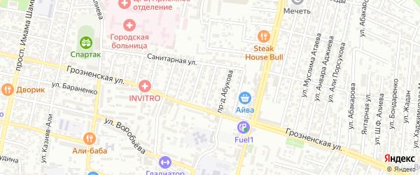 Линия 28А на карте микрорайона Кемпинга с номерами домов