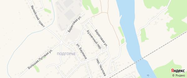 Кузнечный переулок на карте Алатыря с номерами домов