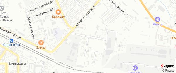 Улица Селекционная станция на карте Хасавюрта с номерами домов