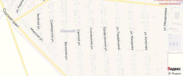 Соловьиная улица на карте Алатыря с номерами домов
