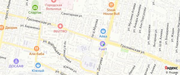 Грозненская улица на карте Хасавюрта с номерами домов