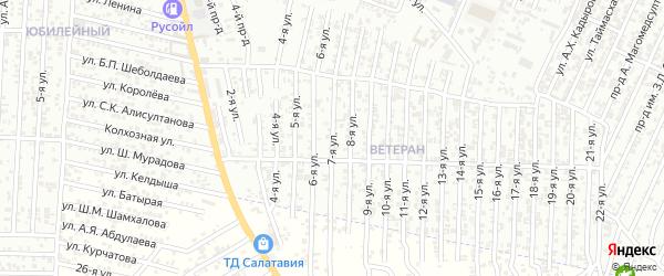 Энергетическая улица 7-й проезд на карте Хасавюрта с номерами домов
