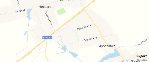 Карта деревни Ярославки в Чувашии с улицами и номерами домов
