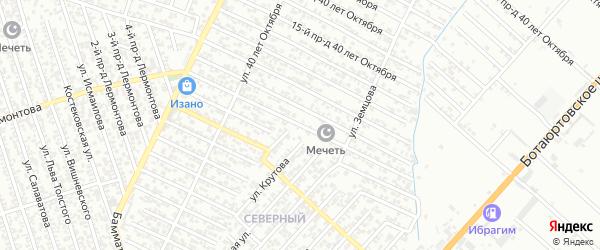 40 лет Октября улица 10-й проезд на карте Хасавюрта с номерами домов