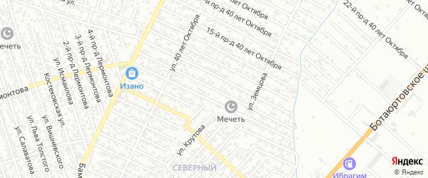 40 лет Октября улица 11-й проезд на карте Хасавюрта с номерами домов