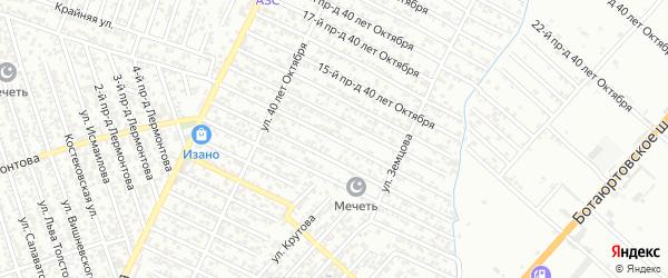 40 лет Октября улица 12-й проезд на карте Хасавюрта с номерами домов