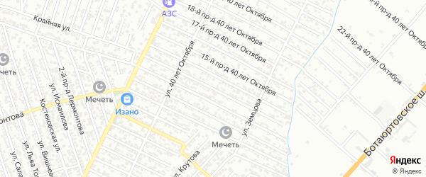 40 лет Октября улица 13-й проезд на карте Хасавюрта с номерами домов
