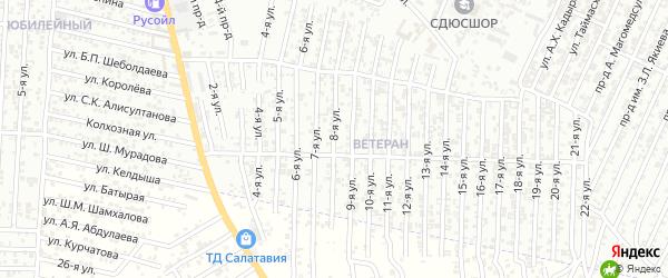 Энергетическая улица 8-й проезд на карте Хасавюрта с номерами домов