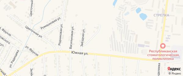 Хозяйственная улица на карте Алатыря с номерами домов