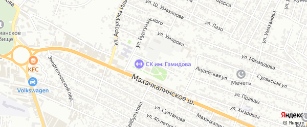 Улица Наиба Гаирбека на карте Хасавюрта с номерами домов