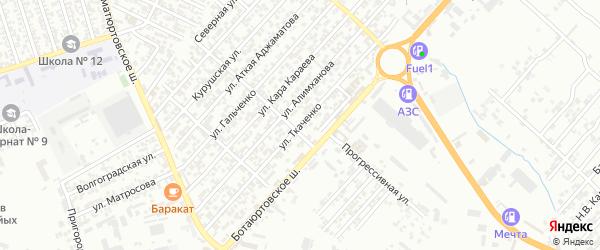 Бамматюртовская улица 2-й проезд на карте Хасавюрта с номерами домов