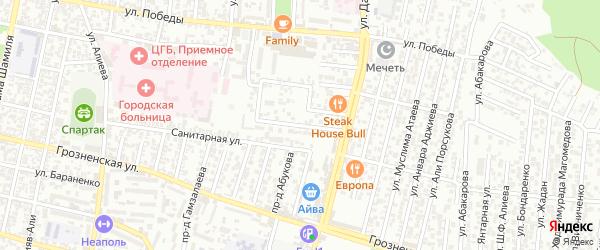 Датуева улица 6-й проезд на карте Хасавюрта с номерами домов