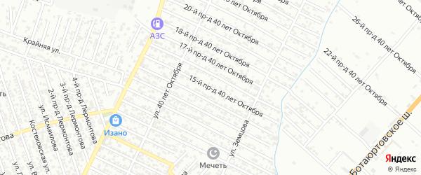 40 лет Октября улица 15-й проезд на карте Хасавюрта с номерами домов