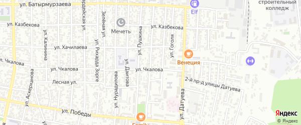 Улица Некрасова на карте Хасавюрта с номерами домов