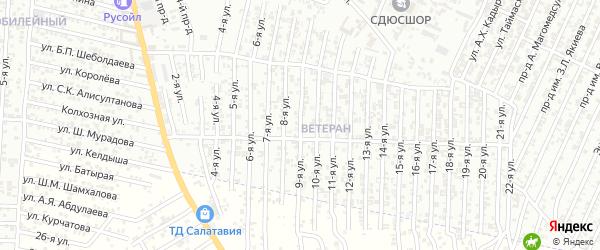 9-я улица на карте Южного поселка с номерами домов