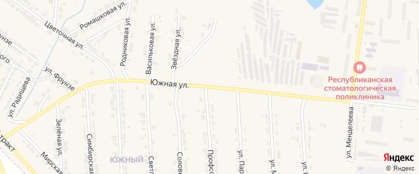 Южная улица на карте Алатыря с номерами домов