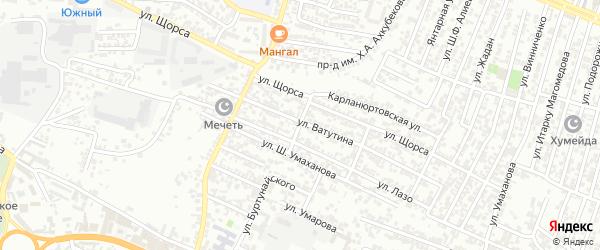 Улица Дахадаева на карте Хасавюрта с номерами домов