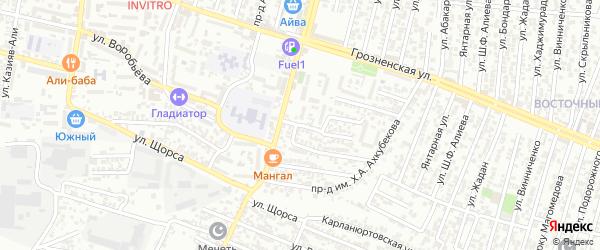Лесные поляны улица 4-й проезд на карте Хасавюрта с номерами домов
