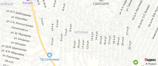 Энергетическая улица 10-й проезд на карте Хасавюрта с номерами домов