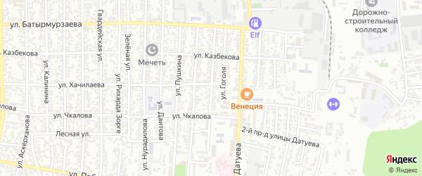 Улица Маяковского на карте Хасавюрта с номерами домов