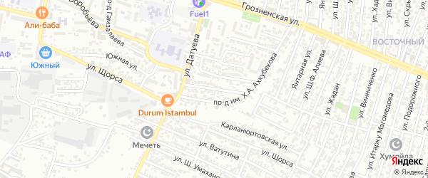 Лазо улица 2-й проезд на карте Хасавюрта с номерами домов