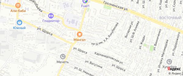 Щорса улица 2-й проезд на карте Хасавюрта с номерами домов