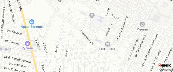 Подгорная улица на карте Хасавюрта с номерами домов