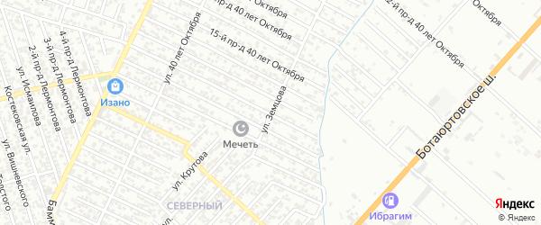 Улица Земцова на карте Хасавюрта с номерами домов