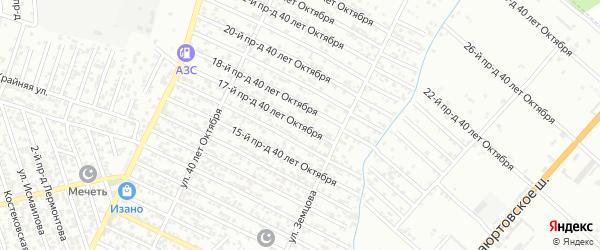 40 лет Октября улица 17-й проезд на карте Хасавюрта с номерами домов