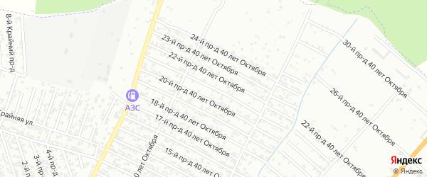 40 лет Октября улица 21-й проезд на карте Хасавюрта с номерами домов